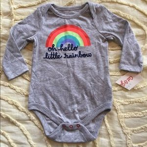 NWT! Cat & Jack Oh Hello Little Rainbow one piece